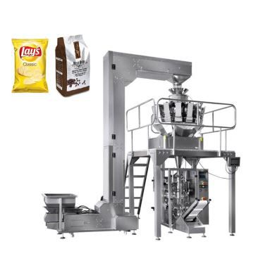 Automatic Potato Chips Packing Achine / Snack Packing Machine With 10 Head Weigher